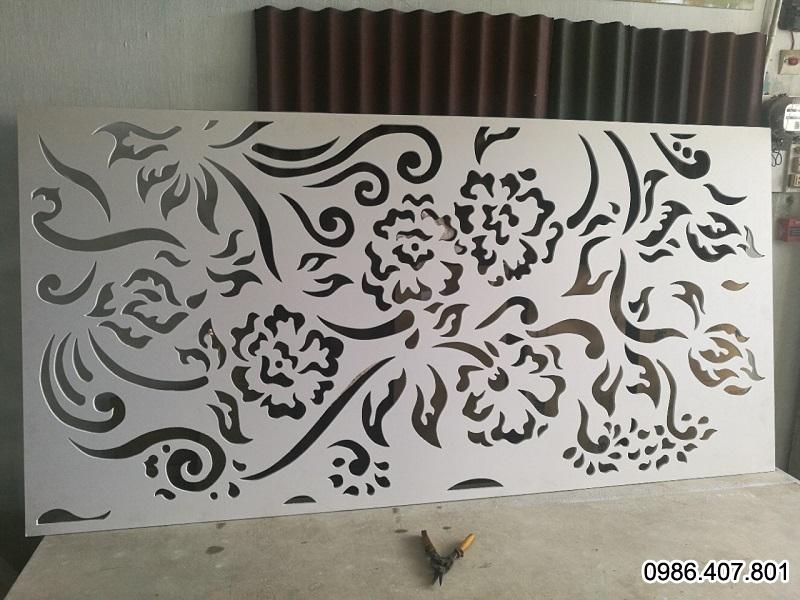 Tấm nhựa PVC foam cứng trắng cắt CNC