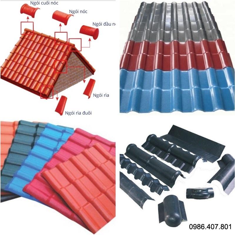 Tấm ngói nhựa PVC chống ăn mòn